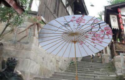 雨伞,油纸伞maya模型