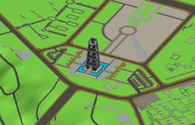 ��月城及周�地形3D模型