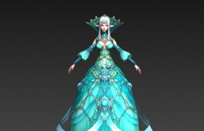 天堂2�{色女精�`3D模型