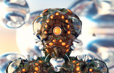 ��的新冠病毒,病菌C4D模型