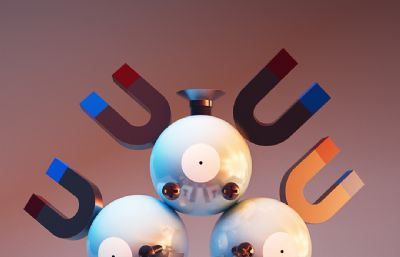 �A球磁�FC4D模型
