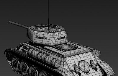 T-34B坦克(蘇系)3D模型