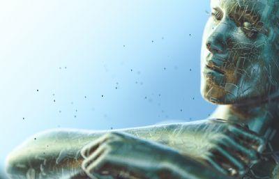 �C械女人裸�w,外星女人C4D模型