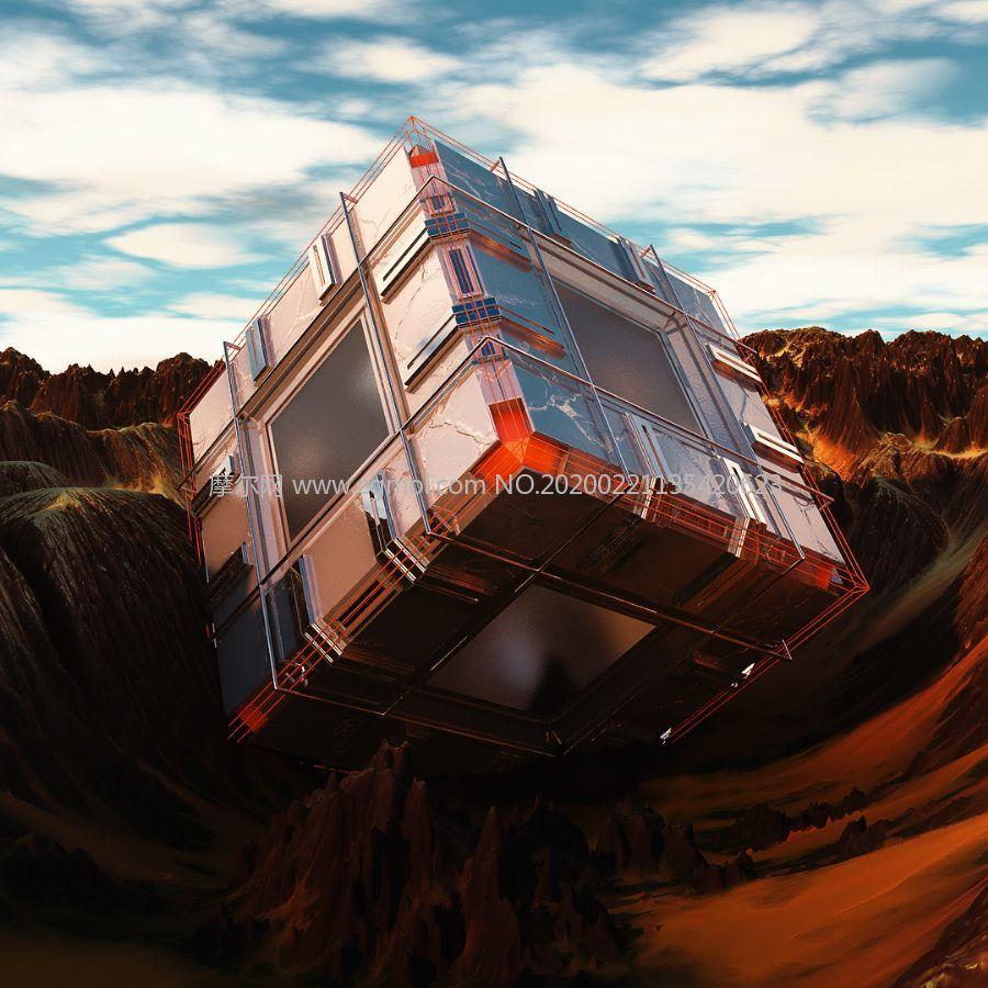 投�S箱,空投箱,外星生物物�Y�\�箱子C4D模型