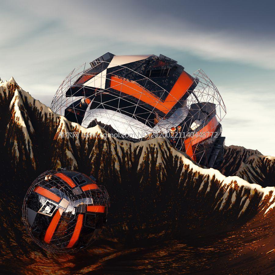 尤瓦��外星�O�浣德湓O��C4D模型