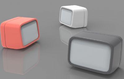 小夜燈OBJ模型白模