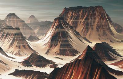 Sryrd山,二�S�L格山�wC4D模型(�W�P下�d)
