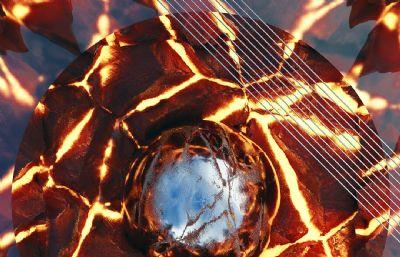 核聚�恒星,火球C4D模型