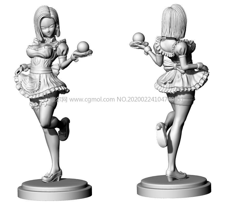 ��珠女仆18�STL模型