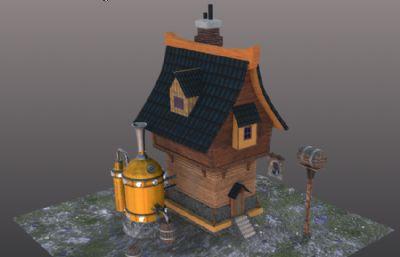 游�蚶锏墓�I�L房子建筑OBJ模型