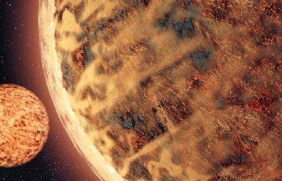 未知星球C4D模型