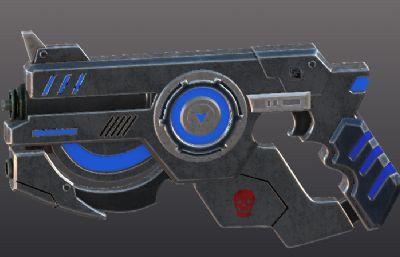 激光槍3D模型