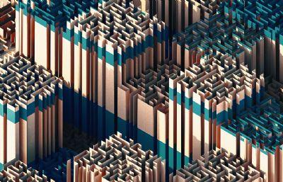 Maze迷�mC4D模型