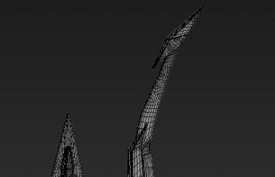 伽�_之弓3D模型