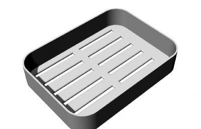底部�U空肥皂盒STL模型