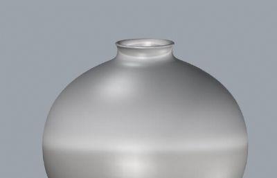 小�A花瓶,小天球瓶OBJ模型