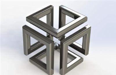 �o限立方�[件solidworks�D�模型