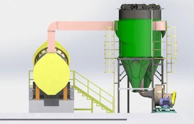 采�V干燥系�ysolidworks�D�模型