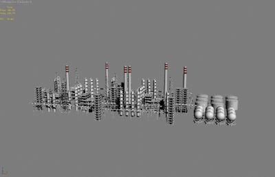 化工�S罐�w管道3D模型