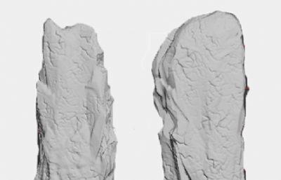 ���石雕柱子,石柱ZTL格式模型,高精模和低模,用作沙�P模型可刻字