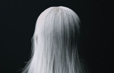 白�l魔女后背背影C4D模型