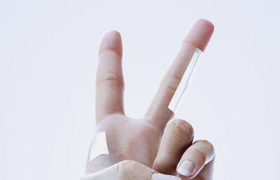 手指�倮�造型C4D模型