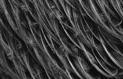 黑色棉线,麻线C4D模型