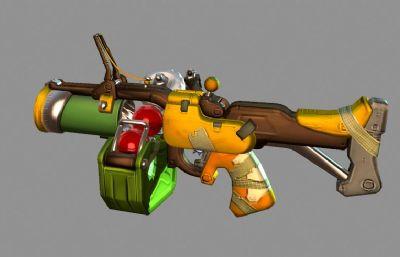 守望先鋒狂鼠武器-榴彈炮3D模型