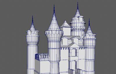 �凸胖惺兰o城堡maya模型