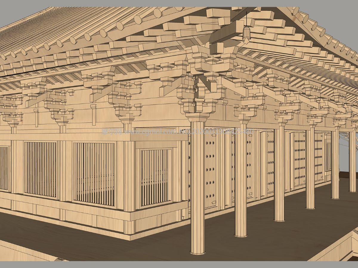 传统木结构中式建筑su模型