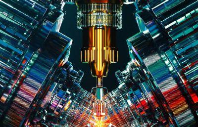 激光聚集�c,能量聚焦C4D模型