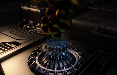 微芯片C4D模型