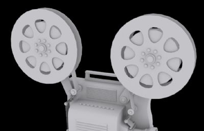 老式电影放映机3D模型