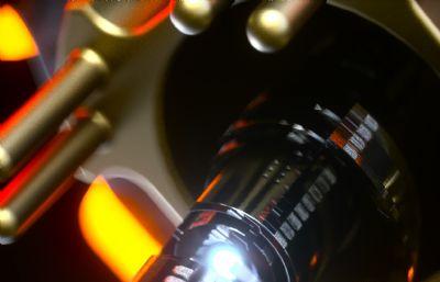 �C械柱之�g的��接旋�DC4D�赢�模型