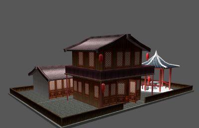 怡红院,青楼maya模型