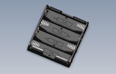 4�1.5V�b的�池盒solidworks�的�D�模型