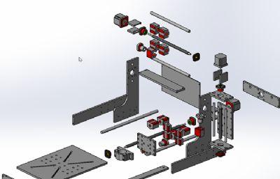 專業雕刻切割機圖紙模型,STEP格式
