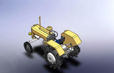 �r用拖拉�C模型Solidworks�D�模型