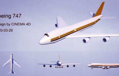 波音747���C4D模型