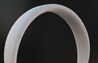 比卡丘卡通風頭戴式藍牙耳機3D模型