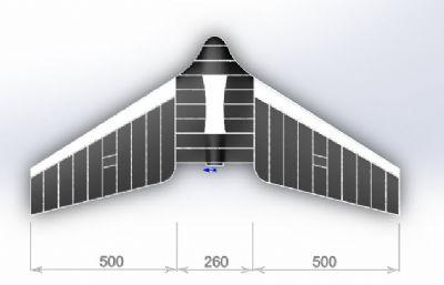 三角翼�o人�C,玩具�w�Csolidworks�D�模型