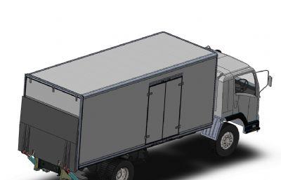 厢式货车,垃圾运输车STEP模型