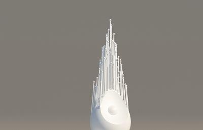 小��新�r代雕塑�O�3D模型