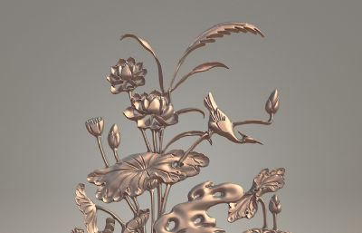 荷-浮雕雕塑�O�