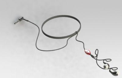 入耳式耳机模型solidworks图纸模型