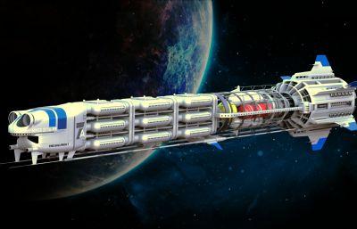 星��w行宇宙�w船造型STEP�D�模型