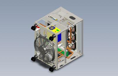 超�水冷��X�C箱stp模型