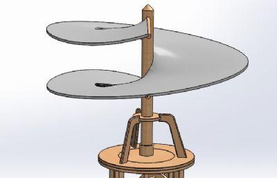 �_芬奇�O�的一���w行器模型solidworks�D�模型