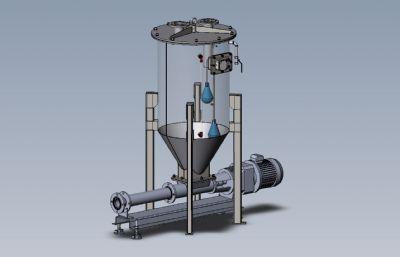 �U物收集容器solidworks�D�模型