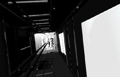 工地施工�梯�炔�,科幻太空�穿越��面maya模型,MB,FBX�煞N格式
